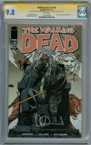 Walking Dead  #108 CGC 9.8  Signature Series Signed  x2 Robert Kirkman Adlard sketch